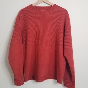 Sundance Lambswool Ribbed Crew Neck Sweater M